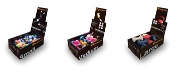 Example photos of AppleCore™ pop boxes